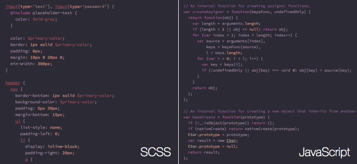 Preview of syntax